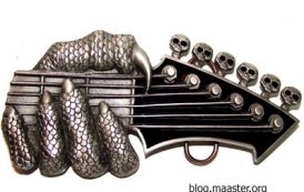 """Gürtelschnalle """"Guitar Head"""" von Beltwerx by Bergamot"""