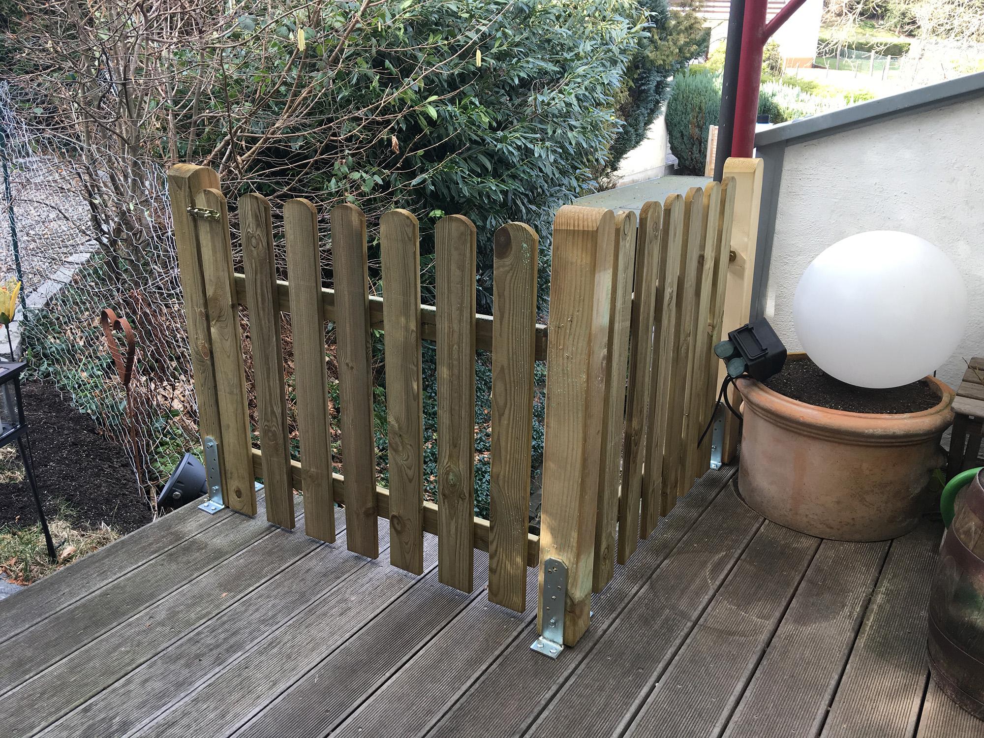 Zaun Terrasse für Mickey