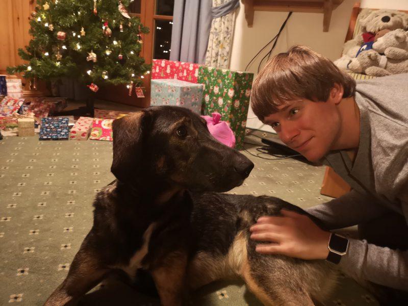 Mickey und Phillipp an Weihnachten
