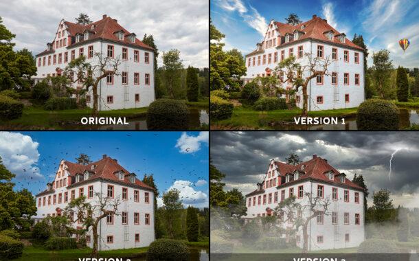 1 Bild - 4 Versionen: Schloss Georghausen