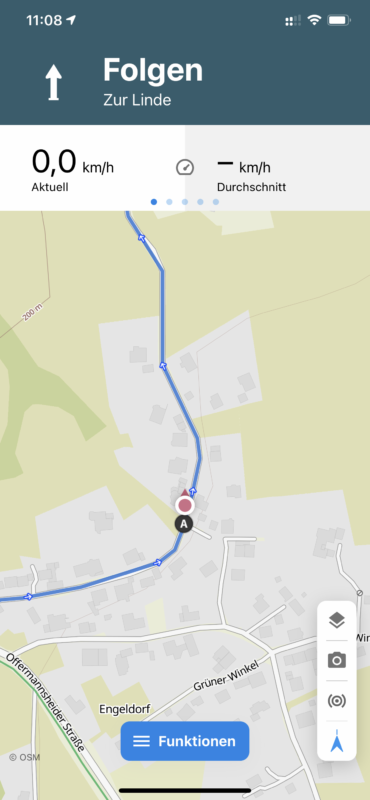 Komoot Navigationsmodus